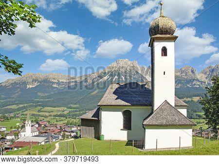 Popular Village Of Ellmau Am Wilden Kaiser In Tirol,austria