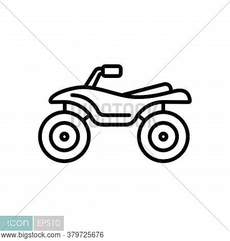 Atv Rider, Quad Bike Flat Vector Icon. Graph Symbol For Travel And Tourism Web Site And Apps Design,