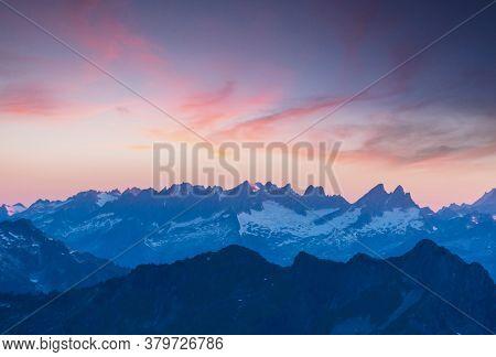Beautiful mountain peak in  North Cascade Range, Washington / USA