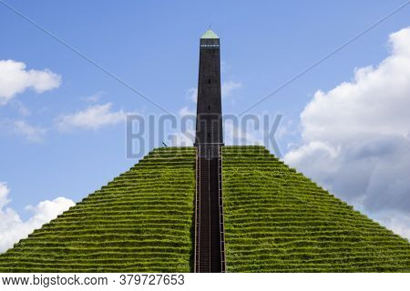 Austerlitz, The Netherlands - August 2020: The Austerlitz Pyramid Was Built In 1804 As A Tribute To