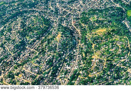 Aerial View Of Northern Suburbs Of Rio De Janeiro In Brazil