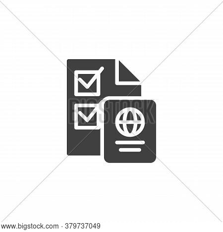 Voting Rights Vector Icon. Filled Flat Sign For Mobile Concept And Web Design. Election Vote And Pas