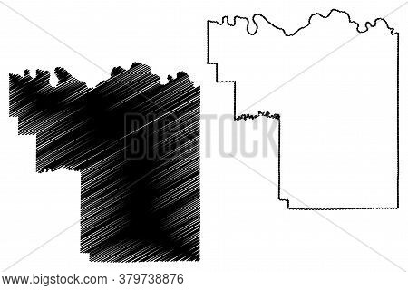 Pike County, Indiana (u.s. County, United States Of America, Usa, U.s., Us) Map Vector Illustration,
