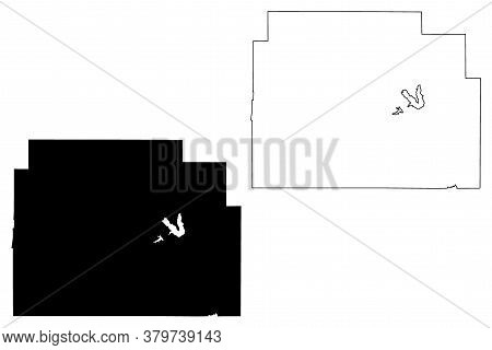Morris County, Kansas (u.s. County, United States Of America, Usa, U.s., Us) Map Vector Illustration