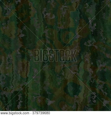 Blurry Blue Gradient Glitch Abstract Artistic Texture Background. Wavy Irregular Bleeding Dye Seamle