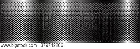 Silver Perforated Iron With White Reflections - Vector