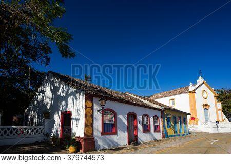 Typical Colonial (portuguese) House In Santo Antonio De Lisboa Village, Tourist Destination In Flori