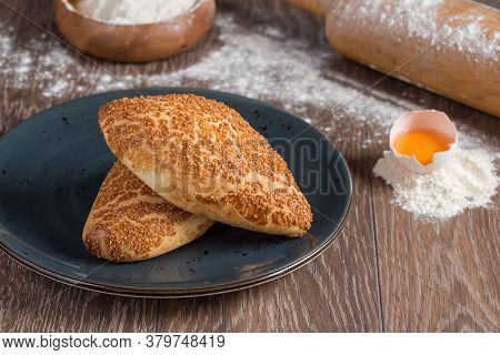 Turkish Pastry Product Pogaca.  Turkish Pastries;  Pogaca, Borek, Acma, Simit