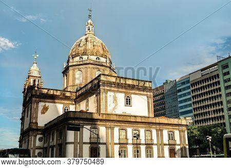 Candelaria Church In Downtown Rio De Janeiro, Brazil
