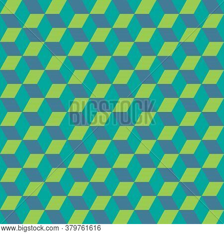 Abstract Geometric Background Of Multicolored Squares. Vector