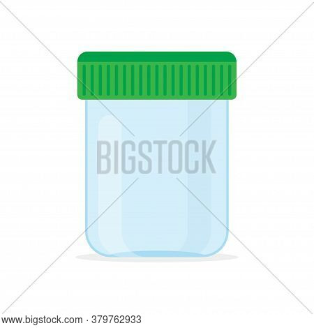 Sterile Medical Containers For Biomaterial. Containers For Urine And Fecal Analysis. Vector Illustra