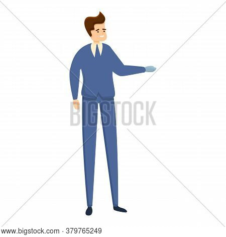 Businessman With Prosthesis Icon. Cartoon Of Businessman With Prosthesis Vector Icon For Web Design