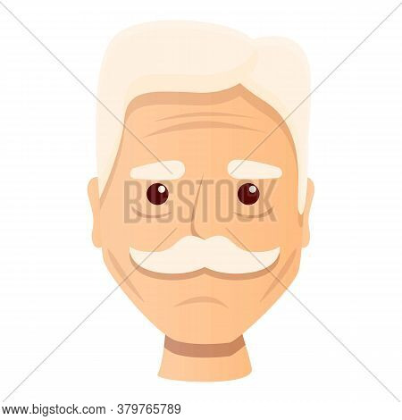 Senior Man Wrinkles Icon. Cartoon Of Senior Man Wrinkles Vector Icon For Web Design Isolated On Whit