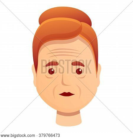 Woman Facial Wrinkles Icon. Cartoon Of Woman Facial Wrinkles Vector Icon For Web Design Isolated On