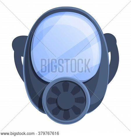 Disinfection Gas Mask Icon. Cartoon Of Disinfection Gas Mask Vector Icon For Web Design Isolated On