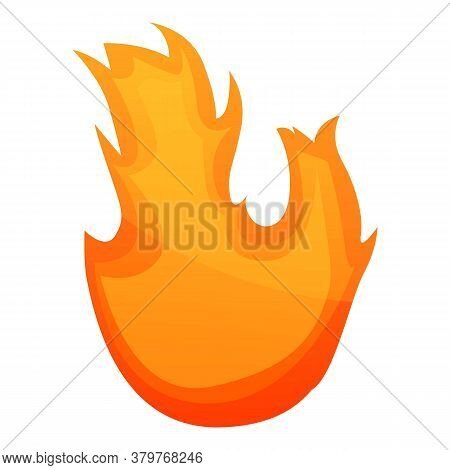 Campfire Flame Icon. Cartoon Of Campfire Flame Vector Icon For Web Design Isolated On White Backgrou