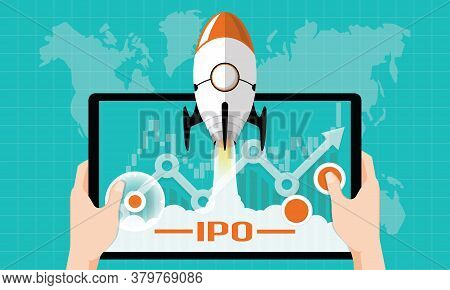 Ipo Or Initial Public Offering Corporate Stock Market, Company Growth Concept. Design By Financial C