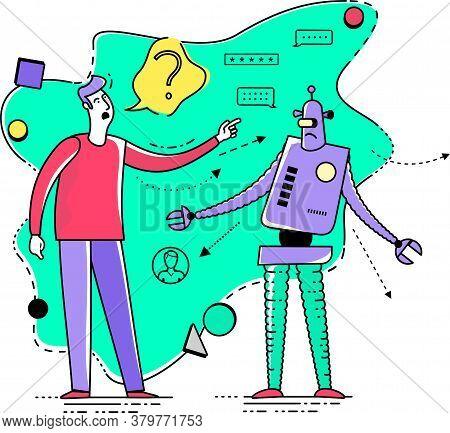 Flat Illustration Design For Presentation, Web, Landing Page, Infographics: Cartoon Character Man Ta