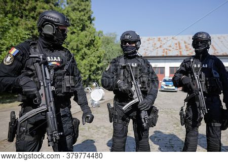 Bucharest, Romania - July 29, 2020: Officers From The Special Actions And Intervention Service (sias
