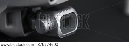 Close-up On Table Electronic Device With Camcorder. Effective Ways To Secure Your Apartment. Visuall