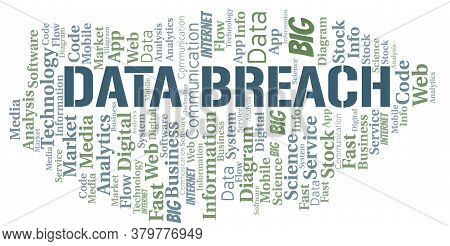 Data Breach Vector Word Cloud, Made With The Text Only.