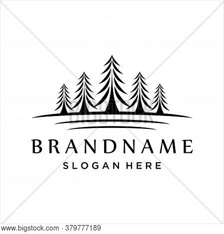 Pine Logo , Evergreen, Fir, Hemlock, Spruce, Cypress, Larch, Pine Trees Logo Design