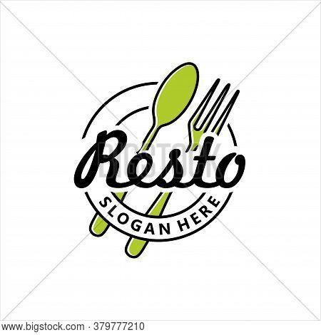 Restaurant, Resto, Food Court, Cafe Logo Template, Spoon Fork For Restaurant Logo Design