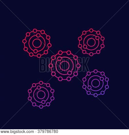 Antioxidants Vector Icon With Gradient, Eps 10 File, Easy To Edit
