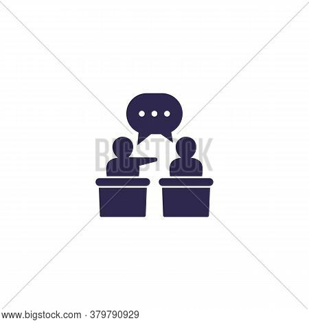 Debate Or Discussion Icon, Vector, Eps 10 File, Easy To Edit