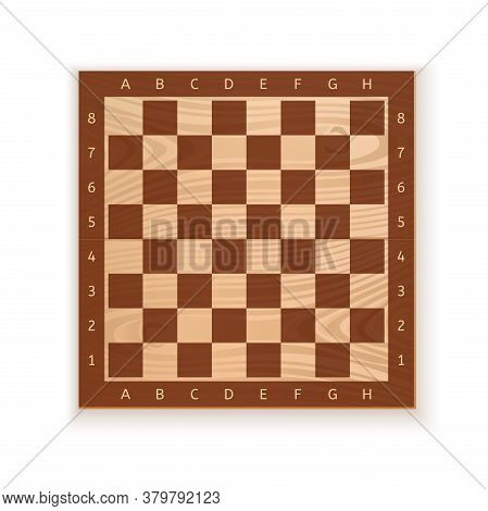 Wooden Chess Board. Game Chessboard Background. Checkerboard - Board For Playing Checkers And Certai