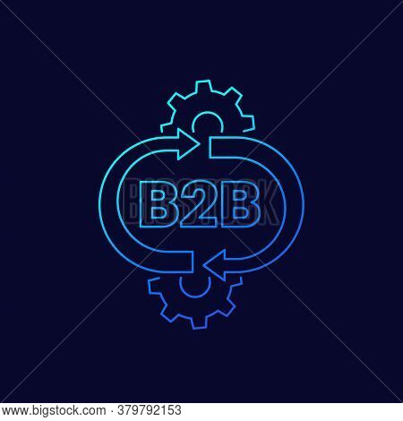 B2b Service Vector Linear Icon, Eps 10 File, Easy To Edit