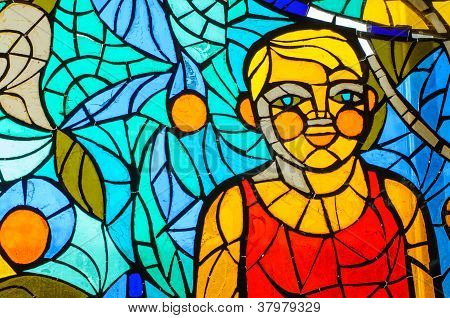 Stained-glass Window. Made In Ussr