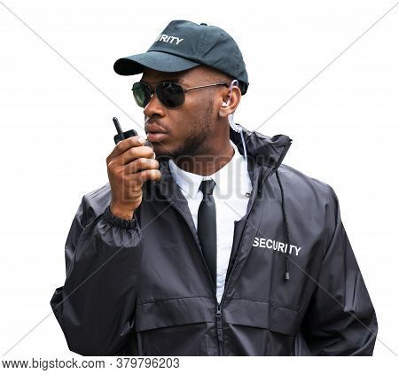 Security Guard Man Service. Defense And Protection
