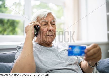 Elder Scam Call And Senior Pension Finance Fraud