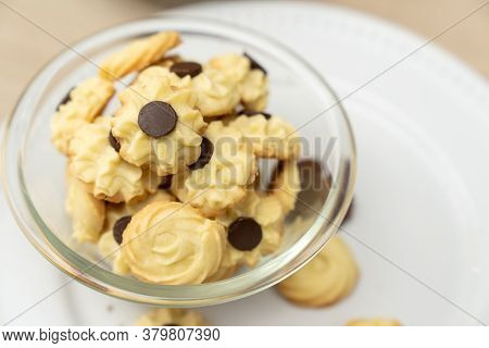 Homemade Assorted Chocolate Bite Size Butter Cookies