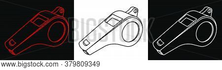 Sports Referee Whistle. Icon. Minimalistic Vector. Web Design Element