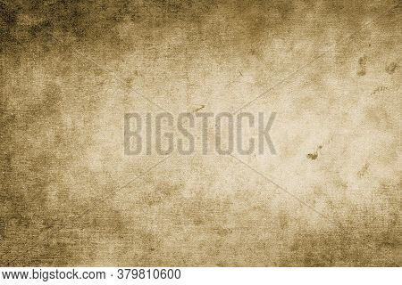 Abstract Old Grunge Texture Background, Old Vintage Background With A Glowing Center And Grunge