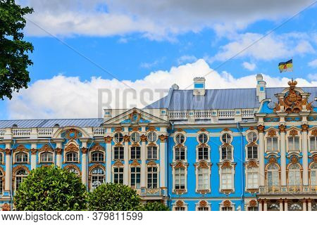 Catherine Palace Is A Rococo Palace Located In The Town Of Tsarskoye Selo (pushkin), 30 Km South Of