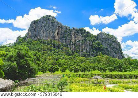 Big Mountain Named Khao Chakan In Khao Chakan District, Sa Kaeo Province, Thailand.