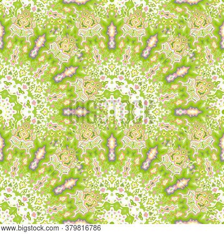 Chakra Geometric Seamless Ornament. Turkish Folk Vector Composition. Lace Stylish Chakra Floral Seam