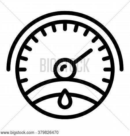 Motor Oil Gauge Icon. Outline Motor Oil Gauge Vector Icon For Web Design Isolated On White Backgroun