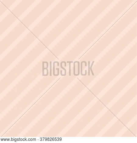 Striped Pastel Seamless Pattern In Pink Blush Color. Vector Scalable Design.