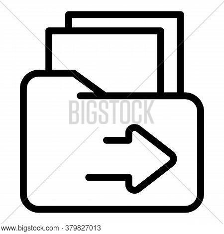 Restructuring Folder Icon. Outline Restructuring Folder Vector Icon For Web Design Isolated On White