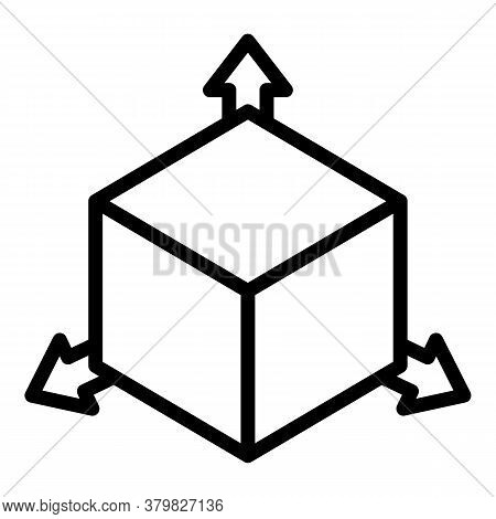 Restructuring 3d Direction Icon. Outline Restructuring 3d Direction Vector Icon For Web Design Isola