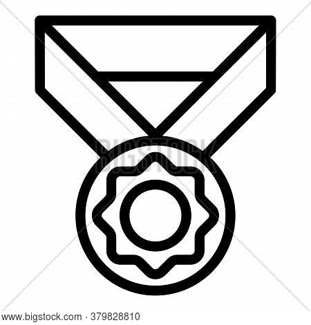 Inclusive Education Medal Icon. Outline Inclusive Education Medal Vector Icon For Web Design Isolate