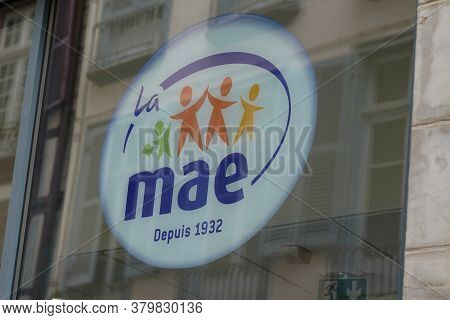 Bordeaux , Aquitaine / France - 08 04 2020 : Mae Sign And Text Logo Of Mutuelle Assurance De Educati