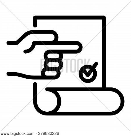 License Icon. Outline License Vector Icon For Web Design Isolated On White Background
