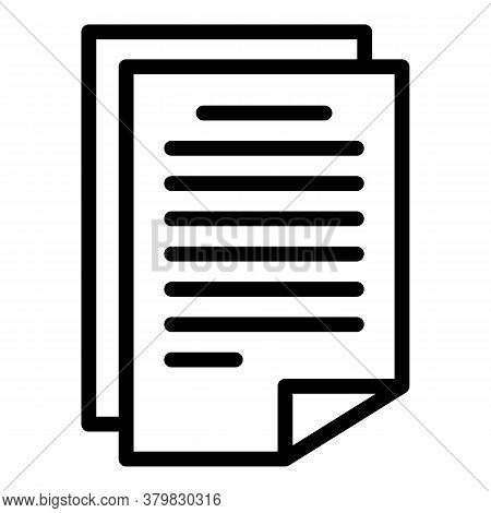 License Papers Icon. Outline License Papers Vector Icon For Web Design Isolated On White Background