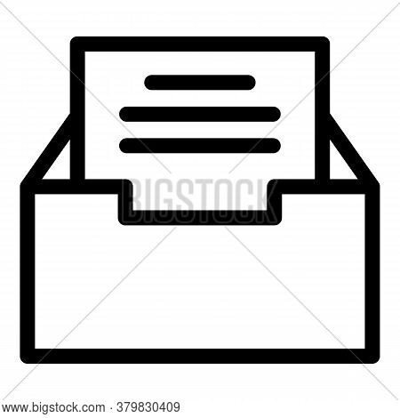 Storage Files Box Icon. Outline Storage Files Box Vector Icon For Web Design Isolated On White Backg