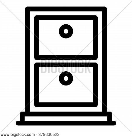 Storage Safe Icon. Outline Storage Safe Vector Icon For Web Design Isolated On White Background